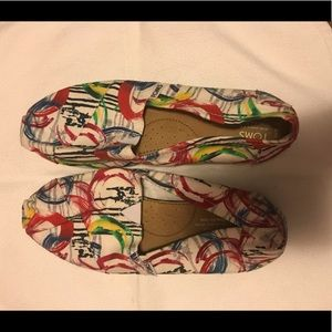 TOMS paint print classic shoes